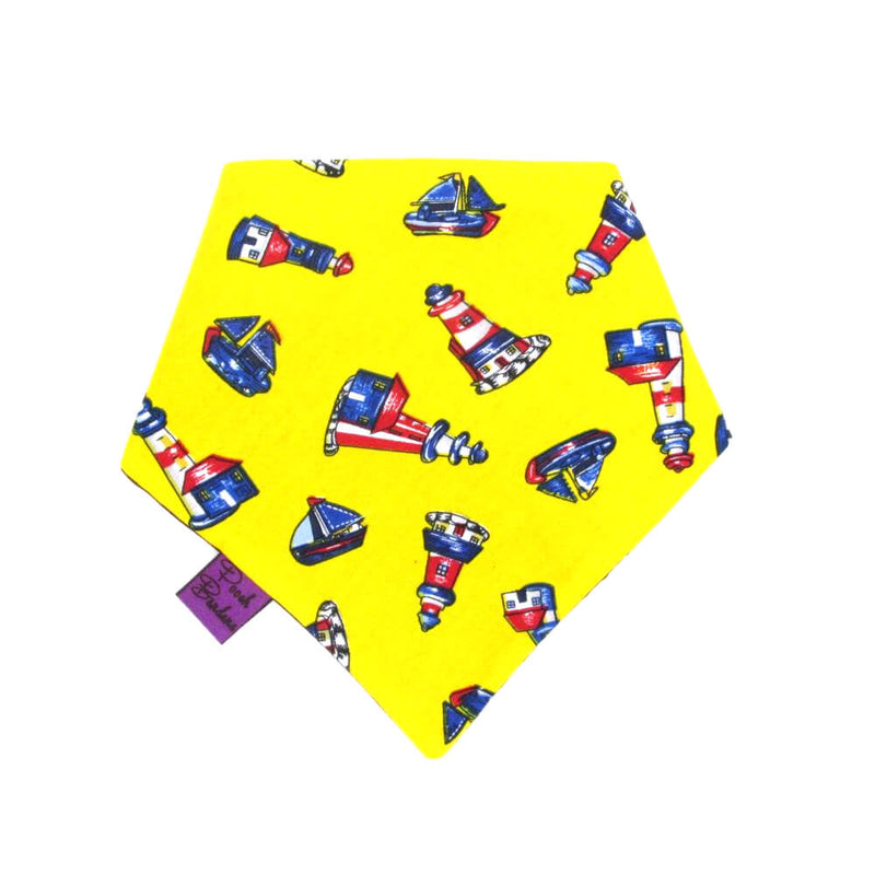 Lighthouse Dog Bandana Yellow