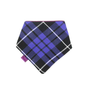 Tartan Dog Bandana Purple