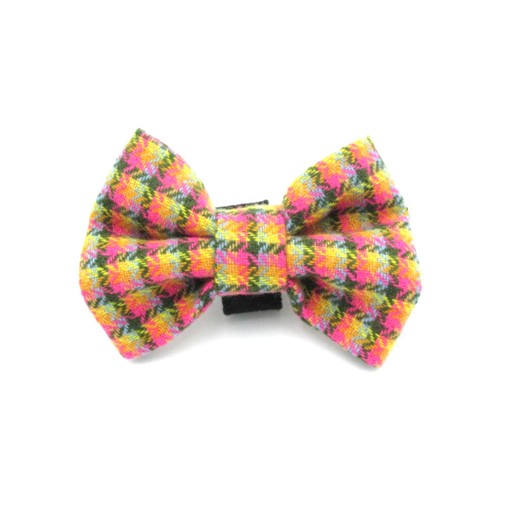 Rainbow Tweed Dog Bow Tie