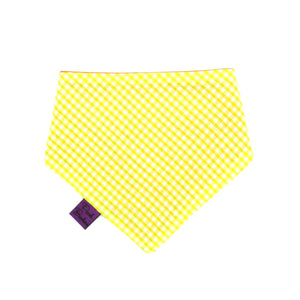 Gingham Dog Bandana Yellow