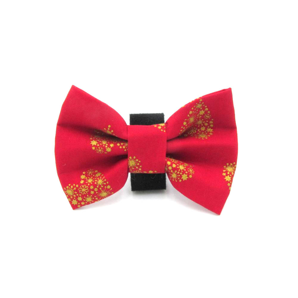 Xmas Hearts Christmas Dog Bow Tie Red - LIMITED EDITION