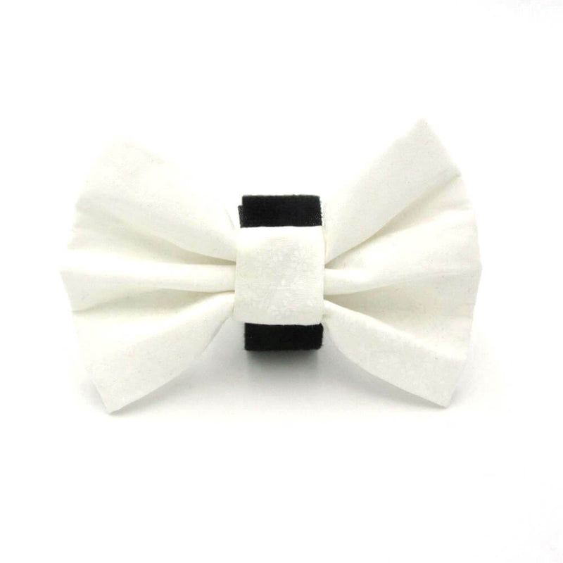 Wedding Dog Bow Tie White