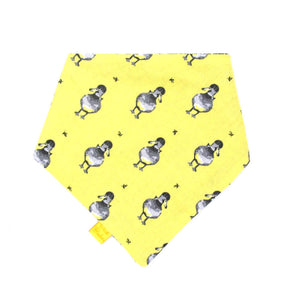 Ducklings Easter Dog Bandana Yellow