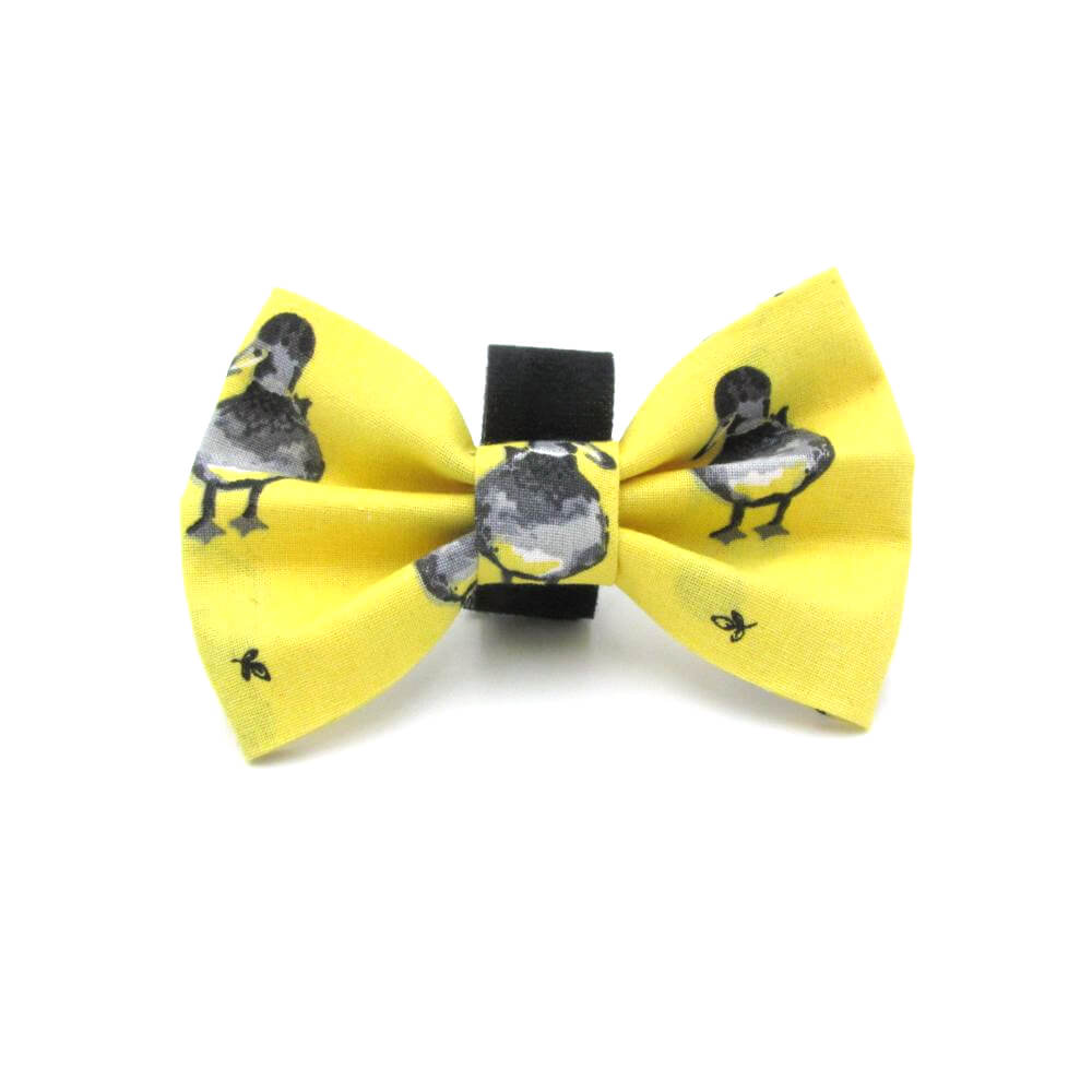 Ducklings Easter Dog Bow Tie