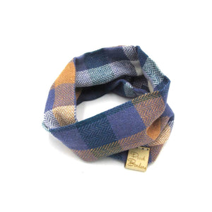 Colourful Check Dog Snood Blue