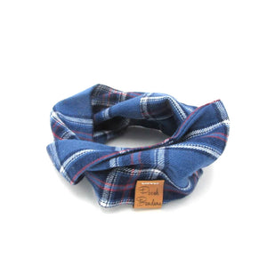 Tartan Dog Snood Blue