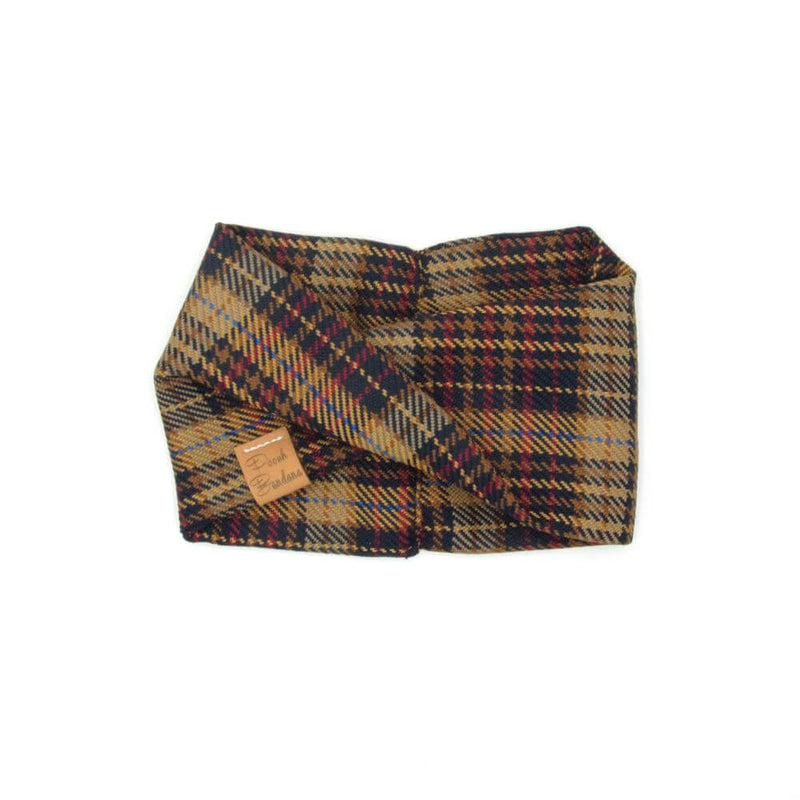 Tartan Dog Snood Orange