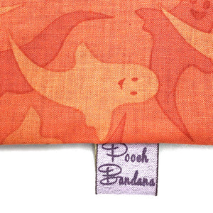 Ghost Halloween Dog Bandana Orange