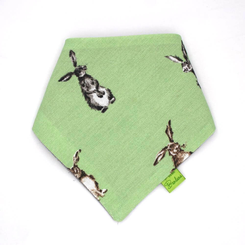 Bunnies Easter Dog Bandana Green