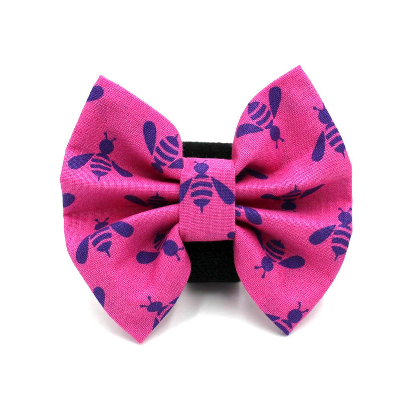 Bee Dog Bow Tie Pink