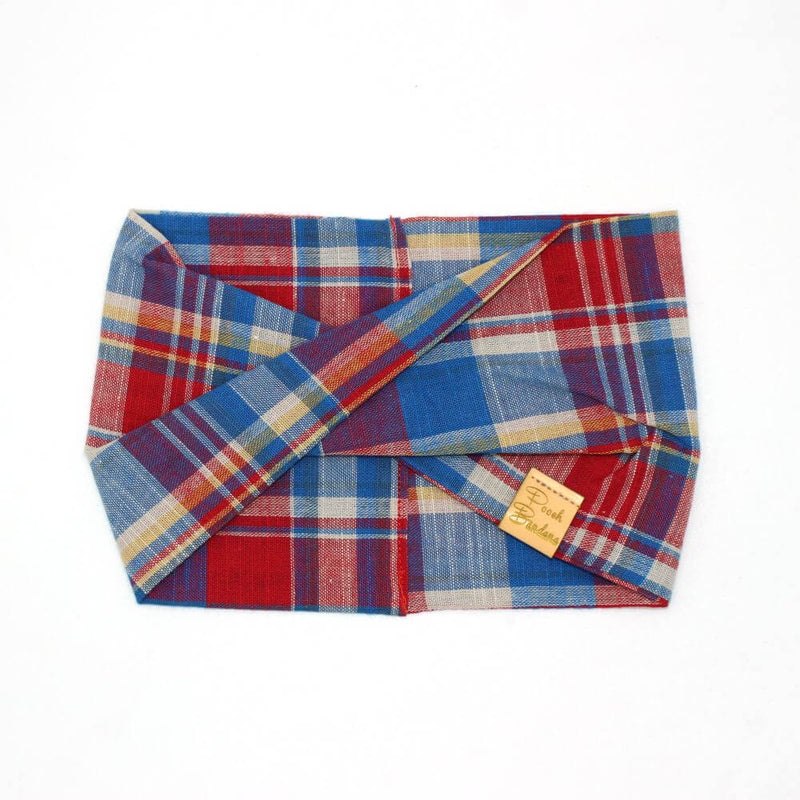 Red & Blue Check Dog Snood