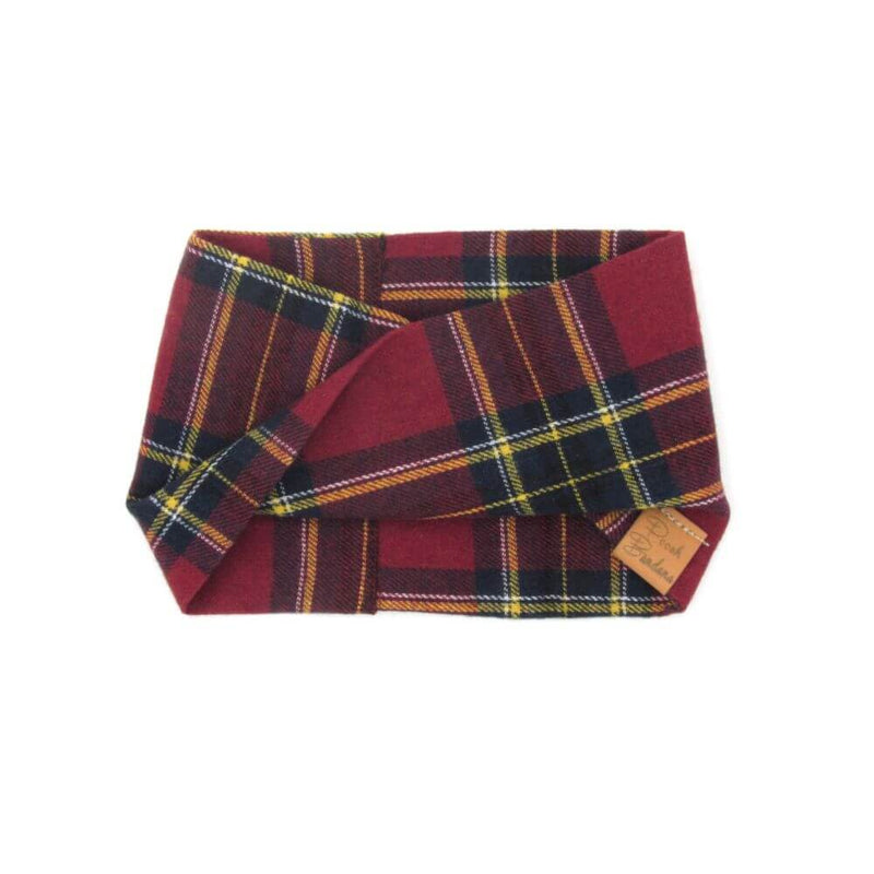 Tartan Dog Snood Red
