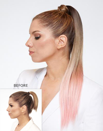 Color:Ombre Dark Blonde Pink$