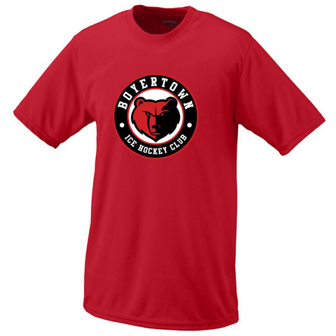 Youth Russell Dri-Power T-Shirt (in Black and Red)