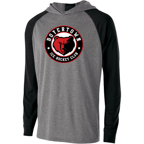 Youth Holloway Echo Hoodie Black and Red