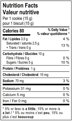 mollys best chocolate chip gluten free nutritional guide