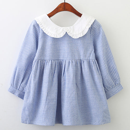 Bow Striped Dress 3-7yrs