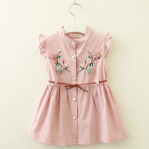 Embroidery Flower Dress 6m-2yrs