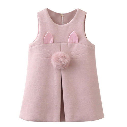 Sleeveless Rabbit Ear Dress 3-7yrs