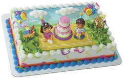 Dora's Birthday Party Cake
