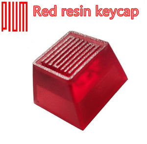 PLUM Red resin keycap