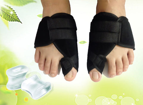 Package: 拇趾外翻矯正帶+分趾軟膠 Hallux Valgus Splint+Gel Toe Spacers