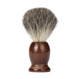Wooden Synthetic Hair Shaving Brush + Bowl