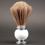 ZY Shaving Horse Hair Shaving Brush - Metal Handle