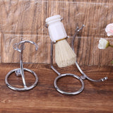 Iron Alloy Razor And Shaving Brush Stand