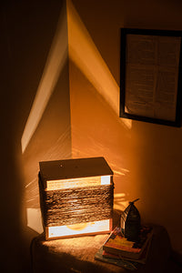 Rustic Jute Night Lamp