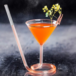 Martini Straw Sipper Glass (BUY 4 FREE SHIPPING) - Get Yours Here