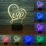 Creative Valentine's Day gift colorful night light - Get Yours Here