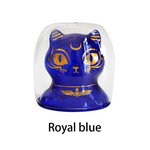 7.4oz Bastet Cat Double Wall Insulated Coffee Glass-Buy 4 Free Shipping - Get Yours Here