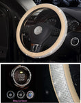 Steering wheel cover made of crystal-50% discount - Get Yours Here
