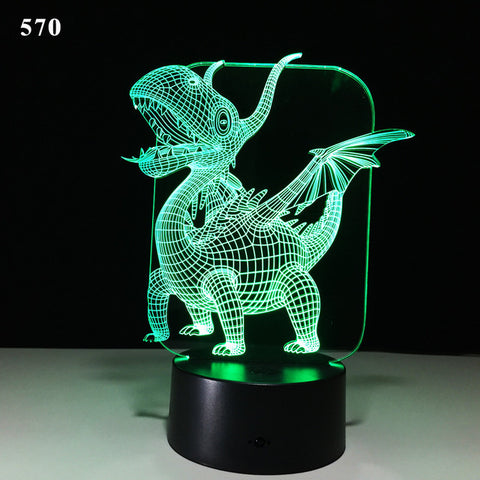 50% OFF-Dinosaur 3D Illusion LED NightLight - Get Yours Here