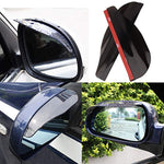 2 Pcs Rear View Side Mirror Rain Eyebrow