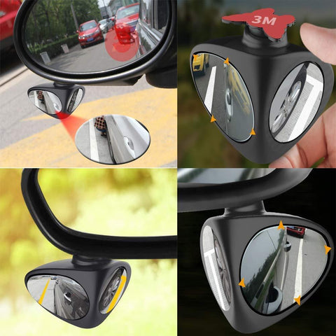 2 in 1 Car Front And Rear Wheel Blind Spot Double Mirror - Get Yours Here