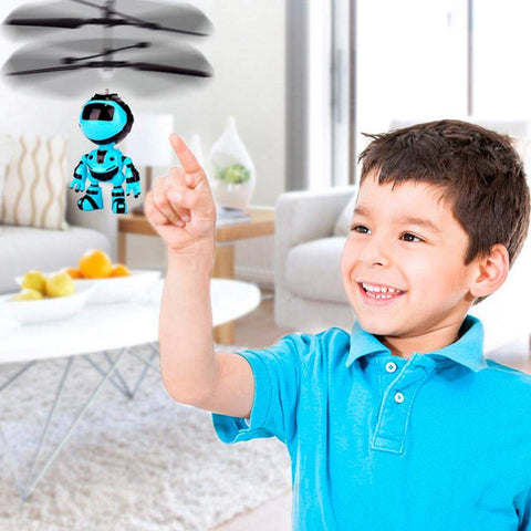 Cute USB Charging Hand Induction Robot Suspension Aircraft Children Toy - Get Yours Here