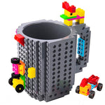 Build-on Brick Mug Cups Compatible with LEGO DIY - Get Yours Here