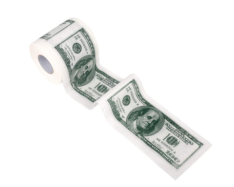 100 Dollar Money Funny Toilet Paper, Novelty Printed Toilet Tissue, 5 Roll - Get Yours Here