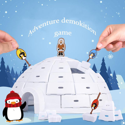 Penguin Snow House Demolition Wall Demolition Ice Cube Board Game - Get Yours Here