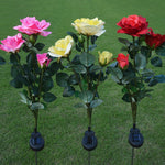 Waterproof Rose Flower Stake Lamp
