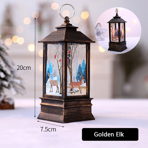 Christmas Decoration Party LED Candle holder oil lamp
