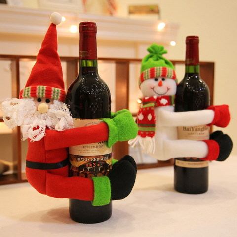 Christmas old man snowman wine bottle decoration - Get Yours Here