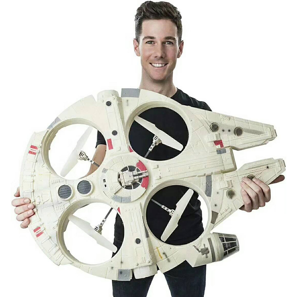 star wars remote control millennium falcon xl flying drone get yours here. Black Bedroom Furniture Sets. Home Design Ideas