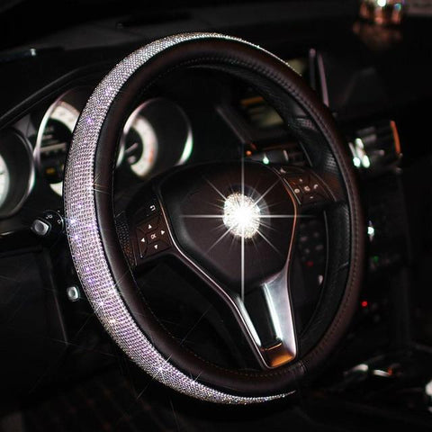 CRYSTAL STEERING WHEEL COVER - Get Yours Here