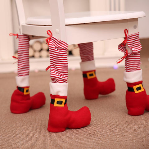 Chair Leg Christmas Decoration Santa Claus Navidad Xmas Decoration - Get Yours Here