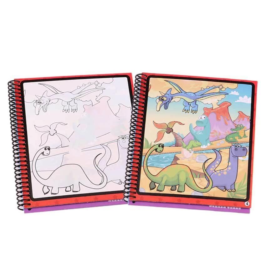 10 Models Magic Water Drawing Book Coloring Book Doodle With Magic Pen Paint Drawing Board Cardboard Paper Kids Toy For Children
