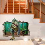 2019 Hot New Products Cool 3D Dinosaur Floor Wall Sticker Removable Vinyl Art Home Decal DIY For Gift Accessories home
