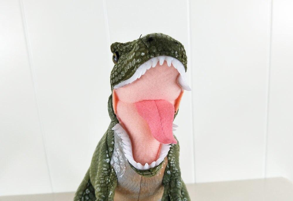 BOLAFYNIA Gteen skin Ferocious dinosaur Children Plush Stuffed Toys Baby Kid Toy doll for Christmas Birthday Gift